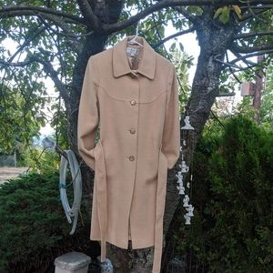 8)Larry Levine Camel Hair Trench Coat
